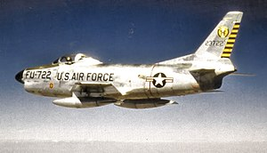 15th Test Squadron - North American F-86D-40-NA Sabre 52-3722 34th Air Division, Davis Monthan AFB, Arizona, June 1957