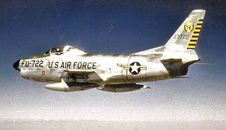 15th Test Squadron - North American F-86D-40-NA Sabre 52-3722 34th Air Division, Davis Monthan AFB, Arizona, June 1957