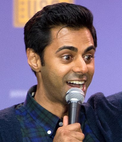 160505-D-DB155-010 Comedian Hasan Minhaj performs during the comedy show at Joint Base Andrews in May 2016 (cropped).JPG