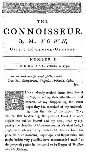 The Connoisseur (newspaper) - The Connoisseur, 1754