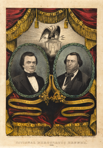 Douglas/Johnson campaign poster 1860NorthernDemocraticPartyPoster.png