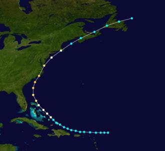 1879 Atlantic hurricane season - Image: 1879 Atlantic hurricane 2 track