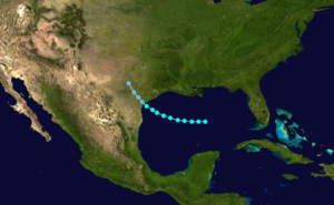 1881 Atlantic hurricane season - Image: 1881 Atlantic tropical storm 2 track