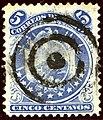 1890 5c Bolivia mute circles Yv29.jpg