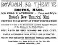 1893 BowdoinSqTheatre Boston ad NYClipperAnnual.png