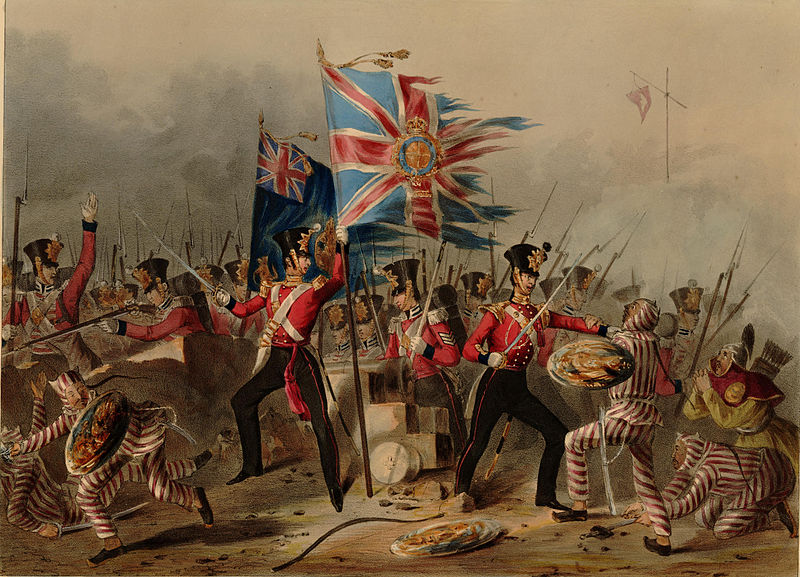 British troops in the Battle of Amoy, 1841