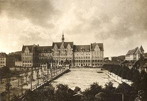 Gdańsk University of Technology - Main building in 1904