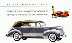 De Luxe Ford - Advertisement for 1939 Ford De Luxe Convertible Sedan