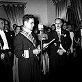 1958. Wolfgang Larrazábal, presidente de la Junta de Gobierno, en acto diplomático.jpg