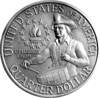 Reverse of the United States Bicentennial quarter 1976 Bicentennial Quarter Rev.png