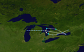 1996 Lake Huron cyclone track.png