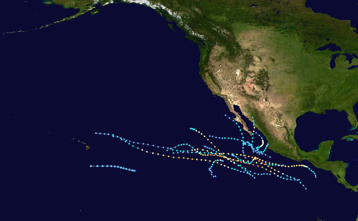 1998 Pacific hurricane season Wikipedia