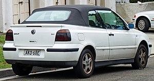 Volkswagen Golf Mk4 - 2000–2003 Golf Cabriolet (Australia)