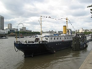 HMS President on the Thames