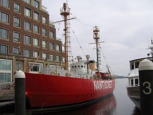 United States lightship Nantucket (WLV-612) - 2006 Rowes Wharf in Boston