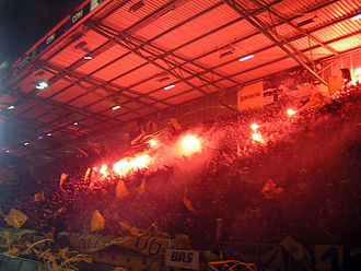 NAC Breda - NAC's fans on the B-Side before the start of the match NAC-PSV in 2007