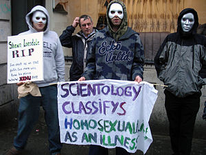 Protest sign addressing issues of Homosexualit...