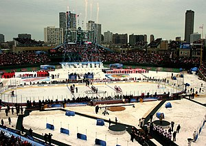2009 NHL Winter Classic - View of the rink immediately prior to the start of the game