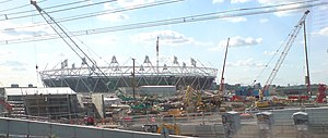 The 2012 Summer Olympics Olympic Stadium at St...