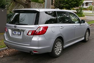 Subaru Exiga - Rear view