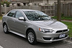 2013 Mitsubishi Lancer (CJ MY14) LX sedan (2015-07-24) 01.jpg