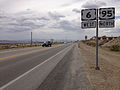 2014-07-30 14 49 56 View west along U.S. Route 6 and north along U.S. Route 95 about 0.6 miles southeast of the Esmeralda County line in Tonopah, Nevada.JPG
