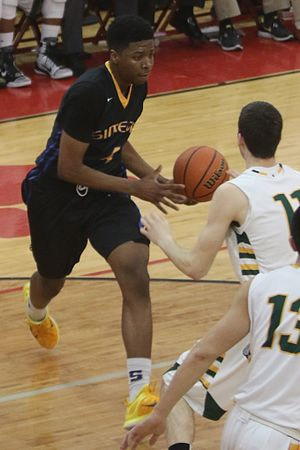 2015–16 Iowa Hawkeyes men's basketball team - Isaiah Moss in a game against 2015 IHSA 4A state champion Stevenson.