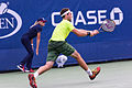 2015 US Open Tennis - Qualies - Guilherme Clezar (BRA) def. Nicolas Almagro (ESP) (12) (20965587859).jpg