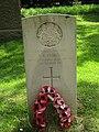 2018-06-20 CWGC gravestone, Private J. B. Cubitt, Parish church of Saint John the Baptist's head, Trimingham.JPG