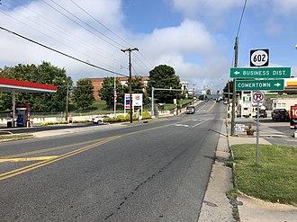 Shenandoah, Virginia - View north along US 340 in Shenandoah