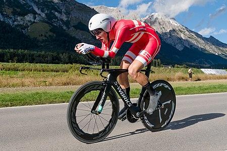 20180924 UCI Road World Championships Innsbruck Men U23 ITT Mikkel Bjerg 850 8316.jpg