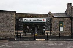 2018 at Weston-super-Mare station - new entrance to platform 1.JPG