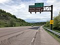 2019-05-17 12 27 25 View west along Interstate 68 and U.S. Route 40 (National Freeway) at Exit 50 (Pleasant Valley Road, Rocky Gap State Park) in Yonkers, Allegany County, Maryland.jpg