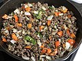 2020-04-12 19 07 39 Ground beef, jalapeno, red pepper, onion and parsley on a hot pan in the Franklin Farm section of Oak Hill, Fairfax County, Virginia.jpg