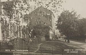 Åkebergveien - Old postcard from Åkebergveien