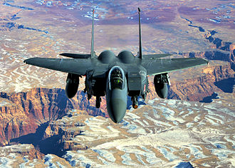 333rd Fighter Squadron - 333rd Fighter Squadron F-15E Strike Eagle over the Grand Canyon