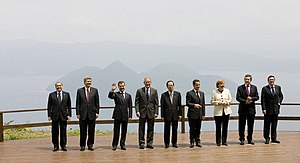 34th G8 summit - Family photo of the G8 heads of delegations