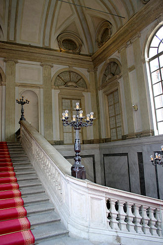 Royal Palace of Milan -  The neoclassical grand staircase of the building