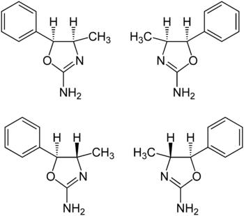 Strukturformel von 4-Methylaminorex