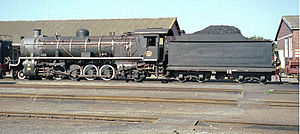 South African type LP tender - Image: 46 14CRB 4 8 2 No 1882 at Voorbaai 1997 SEP 04