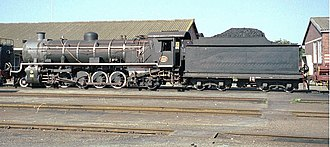 South African Class 14C 4-8-2, 2nd batch - Image: 46 14CRB 4 8 2 No 1882 at Voorbaai 1997 SEP 04