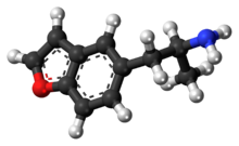 Ball-and-stick model of the 5-APB molecule