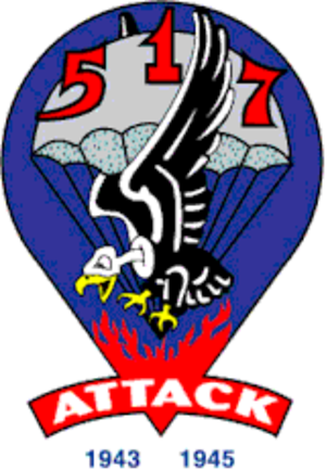 517th Parachute Infantry Regiment - Shoulder sleeve insignia of the 517th Parachute Infantry Regiment.