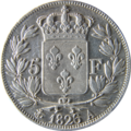 5 francs Charles X 1826 Revers.png