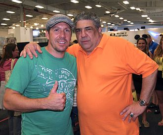 Ray Park - Park posing with Vincent Pastore at the 2013 Wizard World New York Experience