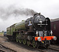 60163 Tornado at Tyseley Locomotive Works Tyseley 101 Gala 28 June 2009 pic 5.jpg