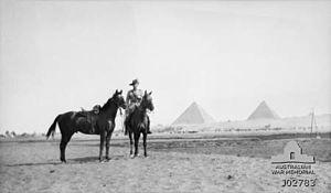 8th Light Horse Regiment (Australia) - Lieutenant Carthew 8th Light Horse Regiment, Egypt