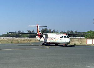 Bhavnagar Airport - Image: 9I ATR 72