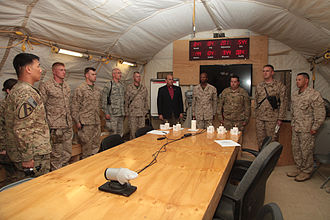 Muster (Texas A&M University) - Muster at Camp Leatherneck, Afghanistan in 2012