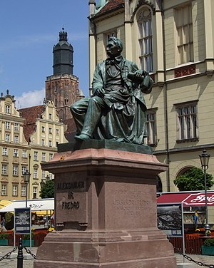 Aleksander Fredro - Aleksander Fredro monument, moved from Lviv (Ukraine) to Wrocław (Poland) after World War II